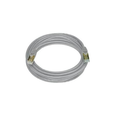 Cat. 7 Class F (ISO/IEC 11801) netværkskabel med RJ45 stik, SFTP, 600MHz, AWG27, grå. 5,0m