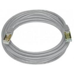 Cat. 7 Class F (ISO/IEC 11801) netværkskabel med RJ45 stik, SFTP, 600MHz, AWG27, grå. 20m