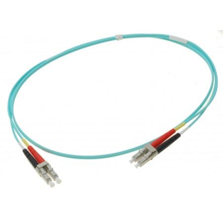 Fiber optisk kabel- multimode LC-LC, 50-125µm, duplex, OM3, 120 meter