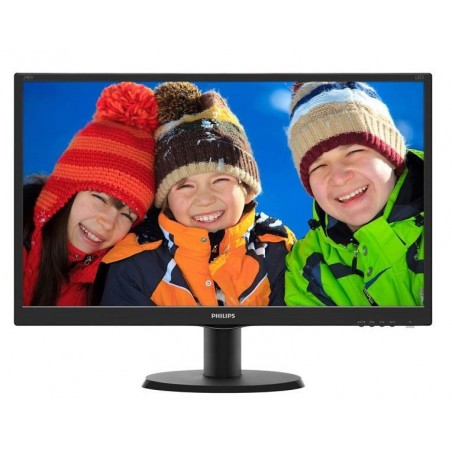 "24"" LCD TFT m/LED widescreen monitor, Full HD, HDMI, DVI-D og VGA indgang"