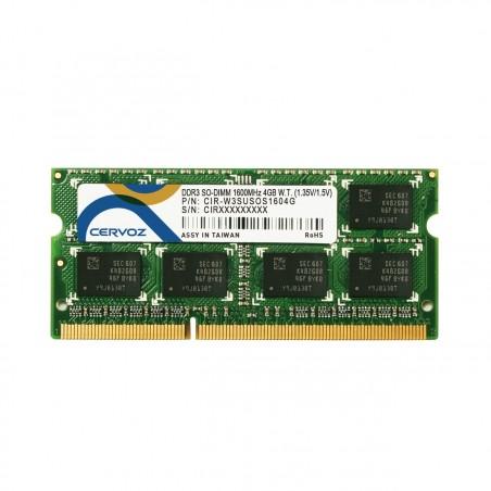 Industriram, DDR3L SDRAM - SO-DIMM 204-pin - 1600MHz - Dual - understøtter både 1,35V og 1,5V - -40° til +85°, 4GB