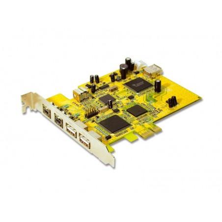 2 x USB2.0, 3 x Firewire 1394b, PCI Express