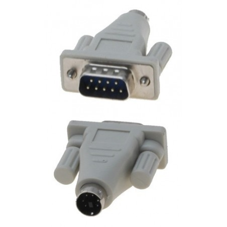 Omformer - adapter mini DIN6 han til DB9 han