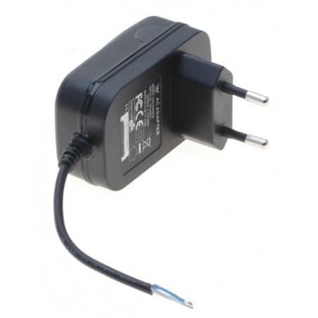5 VDC / 2 Amp. strømforsyning, EU, 100-240 VAC, 50/60 Hz, uden terminering, 6cm kabel uden stik