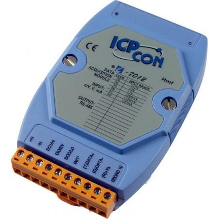 1 x analog ind for High Speed Module, 1 digital ind, 2 digitale ud. RS485, spænding og strøm. ICP DAS I-7012F