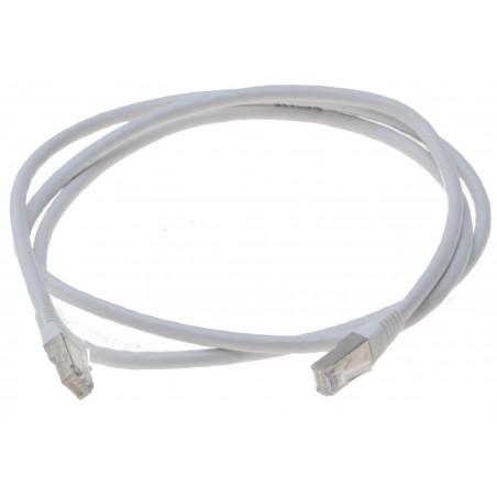 Cat. 6 netværkskabel, RJ45, STP, AWG28, hvid, 1,0m