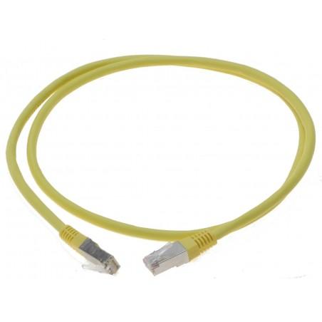 Cat. 6 netværkskabel, RJ45, STP, AWG28, gul, 10m