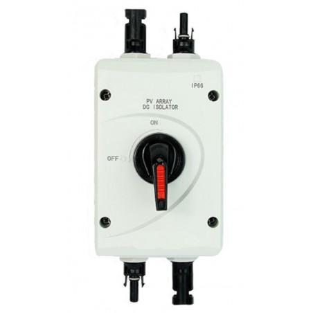 DC jævnstrømsafbryder - switch 32A 1000V med MC4 stik. Sikkerhedsafbryder til solpaneler
