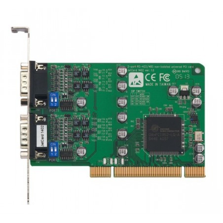 JetCard 1402i - Korenix, 2 ports RS422/485 universelt PCI kort