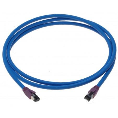 Cat. 8 netværkskabel, RJ45, S/FTP - PiMF, LSZH, 25/40G Base-T, 2000 MHz, blå, 2,0m