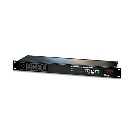 Tænd og sluk udstyr via netværk, 4 x IEC C13 udgange, op til 10A, RJ45, indgange for 2 temp/fugt sensorer