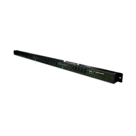 Tænd og sluk udstyr via netværk, 24 (8x3) x IEC C13 udgange, op til 10A, RJ45