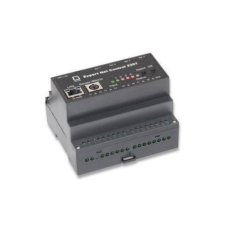 Avanceret fjern-monitorering og -kontrol over netværk. 1 x sensor-indgang, 4 x relæ-udgange, 8 x kontakt-indgange. Watchdog