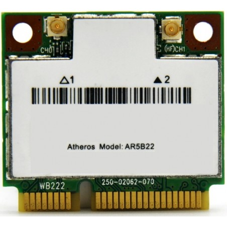 Atheros brand internal wireless 2.4GHz + 5GHz, bluetooth 4.0 PCI-Express micro card