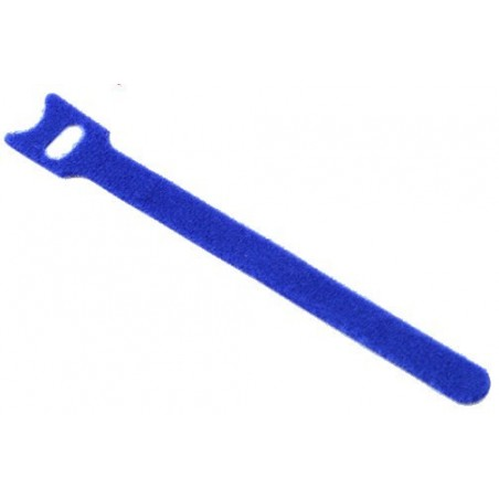 Velcro kabel strips, kabelbinder, burrebånd, 12 x 150 mm, blå
