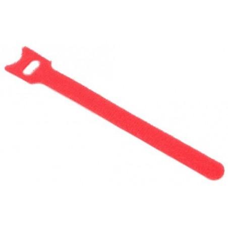 Velcro kabel strips, kabelbinder, burrebånd, 12 x 150 mm, rød