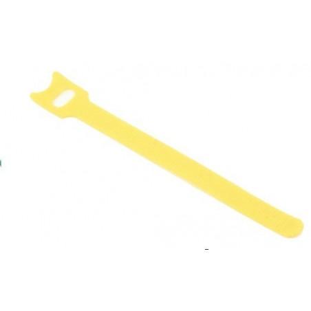Velcro kabel strips, kabelbinder, burrebånd, 12 x 150 mm, gul