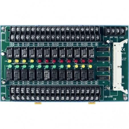 Terminalkort med 24 relæudgange, 250V, 50 pins