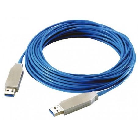 USB 3.0 aktivt optisk kabel (AOC), fiber optisk, inkl. dongle, dataoverførsels hastighed på 5Gbps op til 100 meter