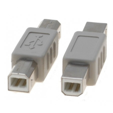USB 2.0 adapter (omformerstik) - B han / B han - USB gender changer - kønskifte af USB kabler