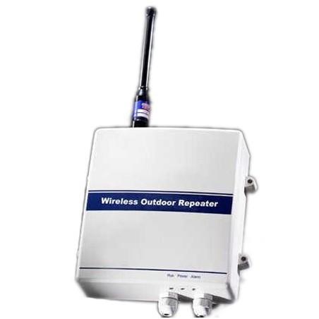 Trådløs repeater til kabelbaseret tilslutning af alarmsensorer