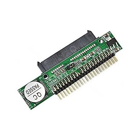 """SATA drev t. 2½"""" IDE interface m. 44 pin, virker begge veje.BEMÆRK! begrænset forsyning via SATA til disk."""