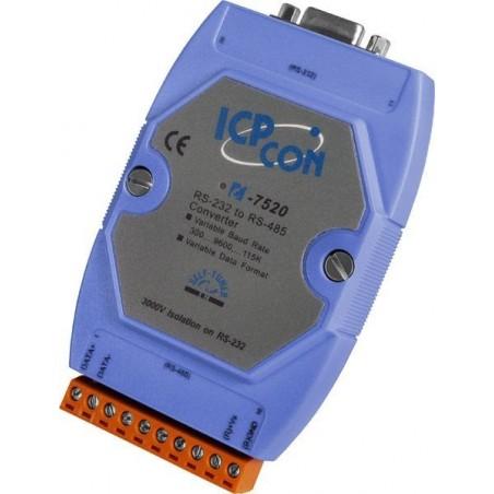 Konverter RS232, 485, 1200m, 115.2kBit/s, 3000 VDC isolation på RS232 siden, -25° - +75°C