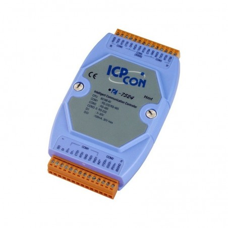 Embedded controller - konverter med 1 x RS-485 og 3 x RS-232, 115.2kBit/s, -25° - +75°C