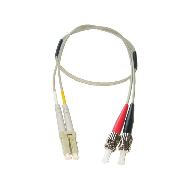 Multimode LC-ST omformerkabel 62,5-125 µm, 1 meter