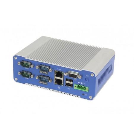 Blæserløs Mini IPC med bred driftstemperatur til DIN, 1 x RS232, 1 x RS485, 2 x 8bitGPIO