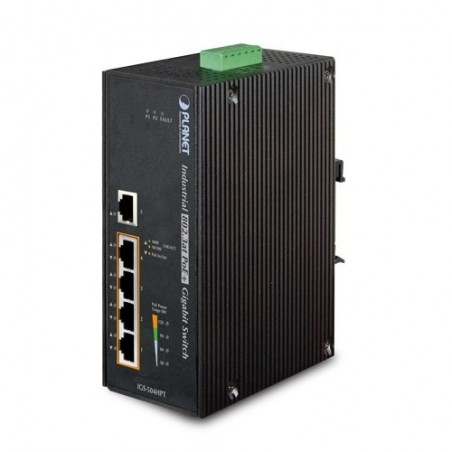 5 ports 10/100/1000Mbit switch, RJ45, PoE+, Unmanaged, 48VDC