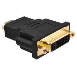 Adapter med HDMI-hane kontakt och DVI-I 24 + 5 hona kontakt - guldpläterad