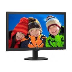 """22"""" sort LCD skærm med LED..."""