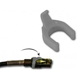 Grå clips/ kabelholder til farvekodning af netværkskabler, 50 stk