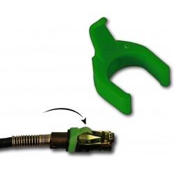 Grøn clips/ kabelholder til...