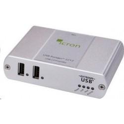 2 ports USB2.0 extender op til 100m over RJ45 kabel