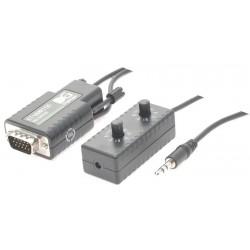 VGA extender med lyd op til 150 meter via nettverkskabel