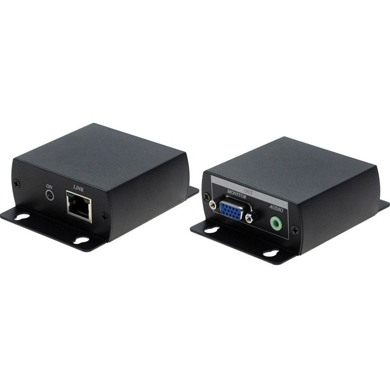 VGA extender op til 70 meter via direkte netværkskabel - med lyd. 1920 x 1200