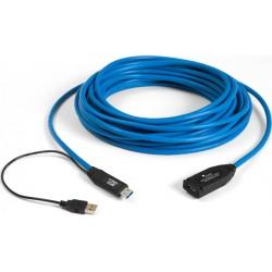15m USB 3.0 forlængerkabel med forstærker, strøm fra USB porten