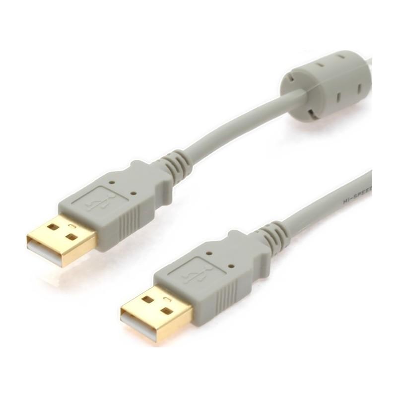USB2 kabel, A han – A han med ferritkerne, 2 m