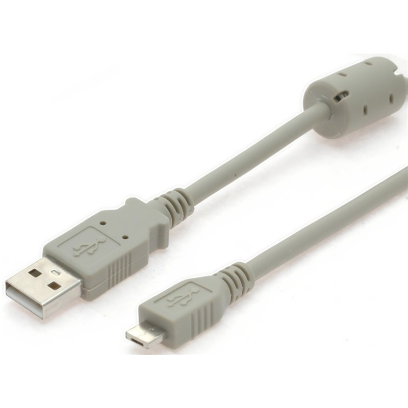 USB2 kabel, A han – micro A han med ferritkerne, 2 m