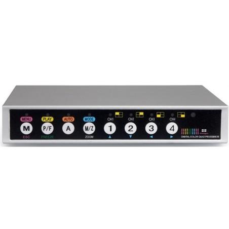 Vis op til 4 composite videosignaler på 1 skærm - Quad - fuld - PIP - Dual - Auto