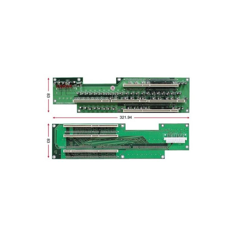Buskort med 5x PCI-X, 2U