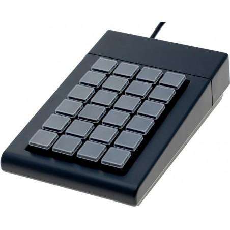 24 key programmerbar numerisk tastatur - USB. Knap-dæksler - egnet til kasseapparater og industri