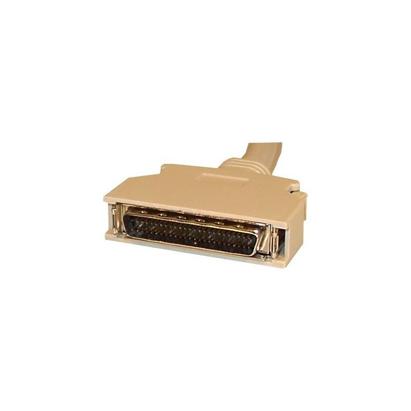 SCSI II wide kabel. Mini DB50 han – Mini DB68 han, 0,5 meter