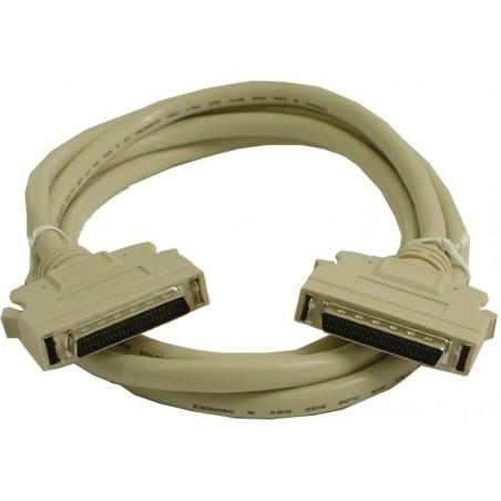 SCSI II kabel, Mini DB50 han, Mini DB50 hun 0,5 m