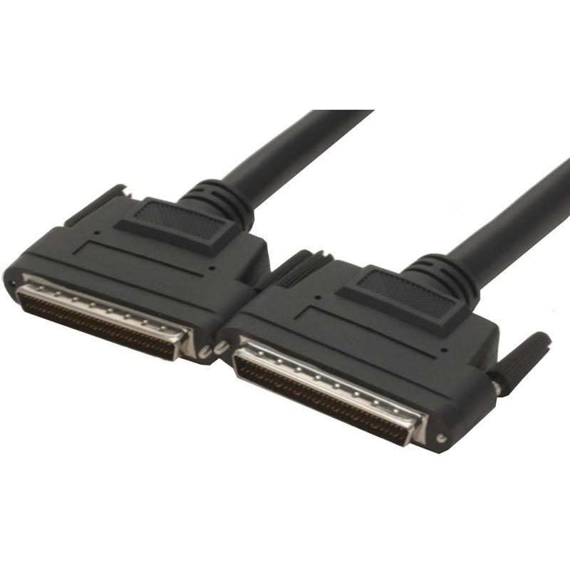WIDE SCSI LVD Kabel, 1 meter. Mini DB68 han – Mini DB68 han