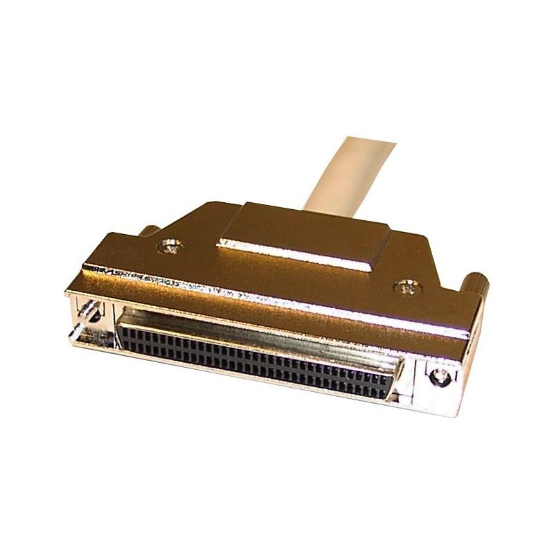 Wide SCSI forlængerkabel, ½ meter. Mini DB68 han – Mini DB68 hun