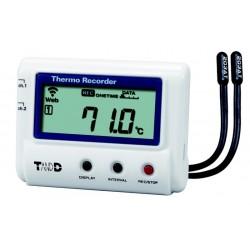 T&D 2 kanals Temperatur datalogger med Wifi