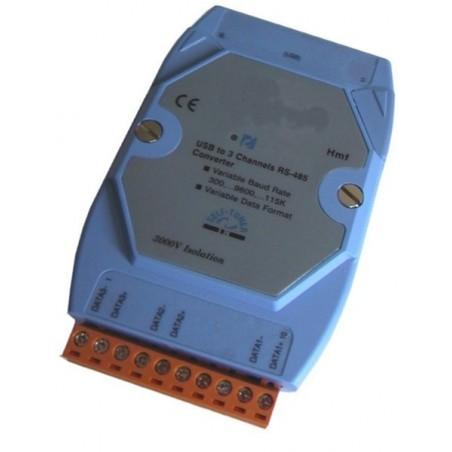Omformer pc'ens USB port til 1 x RS232, RS422 eller 485